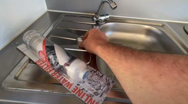 How to adapt a cheap Explore WATER FILTER to your CAMPER or CARAVAN